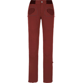 E9 Onda Slim lange broek Dames rood